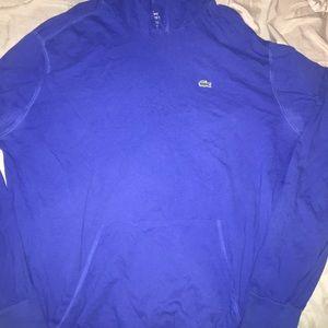 Lacoste Pullover hoody Sz 8 XXXL ROYAL BLUE GATOR